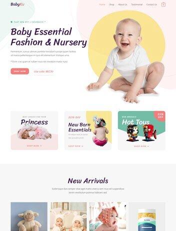 Baby Store Website Design