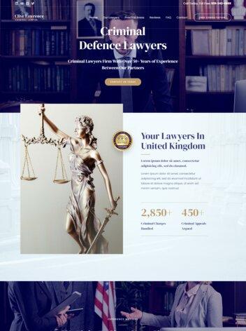 Criminal Lawyer Website Design