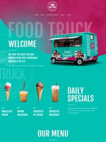 Food Truck Website Design