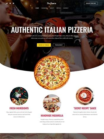 Italian Pizzeria Website Design